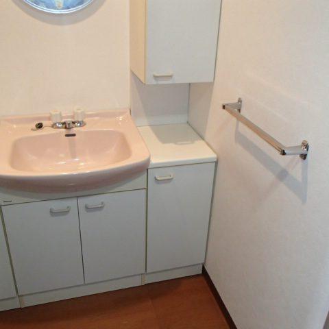 1Kには珍しい脱衣室独立洗面台付
